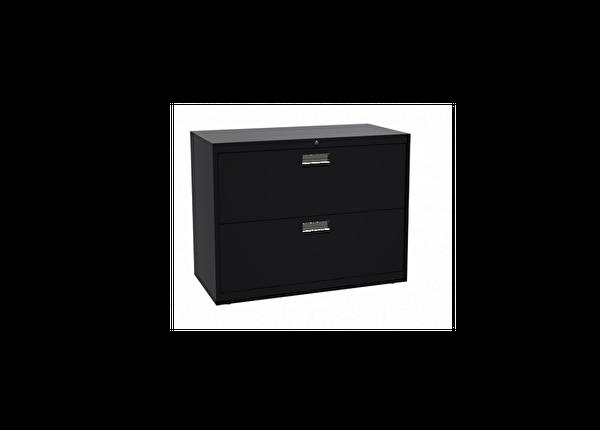 liquidation de Classeur de bureau Classeur 2 tiroirs noir