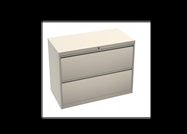 liquidation de Classeur de bureau Classeur 2 tiroirs beige
