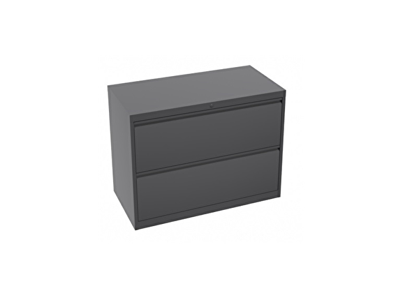 liquidation de Classeur de bureau Classeur 2 tiroirs gris