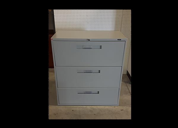 liquidation de Classeur de bureau Classeur 3 tiroirs gris