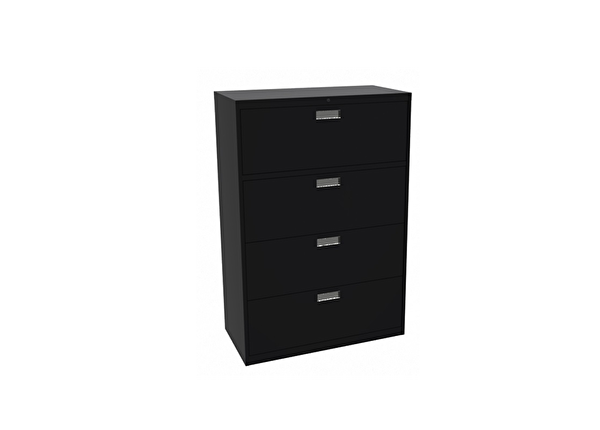 liquidation de Classeur de bureau Classeur 4 tiroirs noir