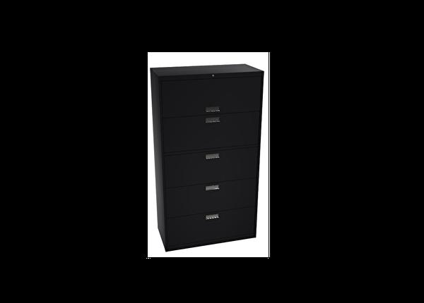 liquidation de Classeur de bureau Classeur 5 tiroirs noir