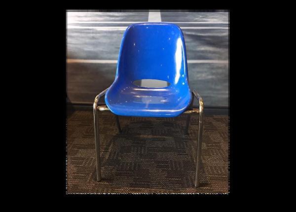 liquidation de Chaise de bureau Chaise usagée bleue