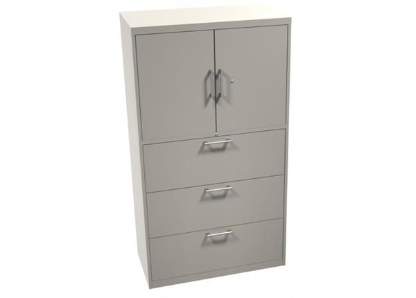 liquidation de Classeur de bureau Classeur 3 tiroirs 2 portes