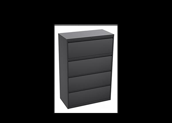 liquidation de Classeur de bureau Classeur 4 tiroirs gris