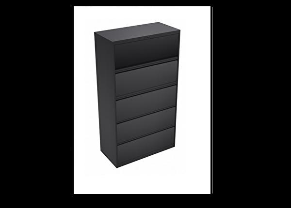 liquidation de Classeur de bureau Classeur 5 tiroirs gris