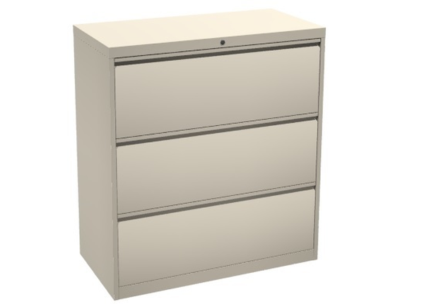 liquidation de Classeur de bureau Classeur 3 tiroirs beige