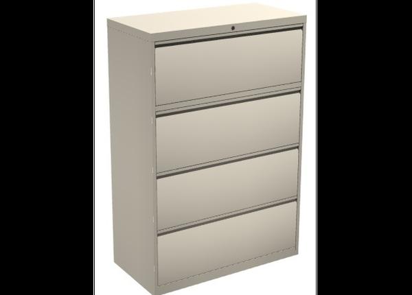 liquidation de Classeur de bureau Classeur 4 tiroirs beige